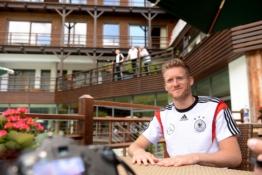 Vokietijos rinktinės žaidėjai bendravo su žiniasklaida