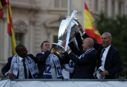 """""""Real"""" futbolininkų sutikimas Madride"""