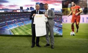 "E. Hazardo pristatymas ""Santiago Bernabeu"" stadione"