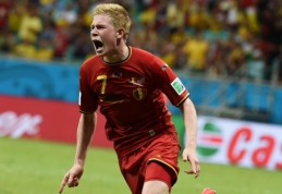 Belgai per pratęsimą įrodė pranašumą prieš JAV futbolininkus (VIDEO)
