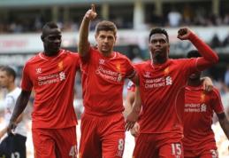 """""""Liverpool"""" neturėjo vargo su """"Tottenham"""", """"Arsenal"""" neįveikė """"Leicester"""" (VIDEO)"""