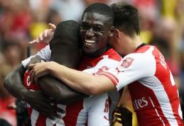 """Draugiškame """"Emirates"""" turnyre - triuškinama """"Arsenal"""" pergalė bei """"Valencia"""" ir """"Monaco"""" lygiosios"""