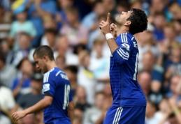 """D.Costos """"hat-trickas"""" užtikrino """"Chelsea"""" pergalę prieš """"Swansea"""", """"Liverpool"""" namuose pralaimėjo """"Aston Villa"""""""