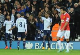 """""""Man Utd"""" rungtynių pabaigoje išplėšė lygiąsias prieš """"West Brom"""" (VIDEO)"""