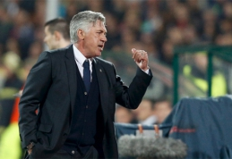 """C.Ancelotti: """"Mūsų startas buvo prastas, bet nusipelnėme pergalės"""""""