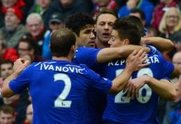 """""""Chelsea"""" po atkaklios kovos palaužė """"Liverpool"""", Mančesterio ekipoms sekėsi skirtingai (FOTO, VIDEO)"""