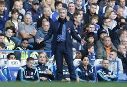 """J. Mourinho liko nepatenkintas """"Chelsea"""" sirgaliais"""