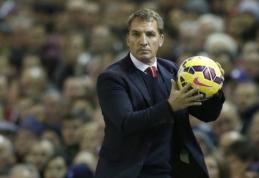 """B.Rodgersas tiki, kad """"Liverpool"""" vis dar gali patekti į """"didįjį ketvertą"""""""
