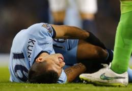 """""""Man City"""" lemiamose Čempionų lygos rungtynės greičiausiai versis be S.Aguero"""