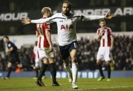 """""""Tottenham"""" iškovojo minimalią pergalę """"Capital One Cup"""" pusfinalyje (VIDEO)"""