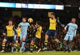 """""""Man City"""" savo žiūrovų akivaizdoje nusileido """"Arsenal"""" vienuolikei (VIDEO)"""
