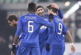 """""""Juventus"""" triuškinančia pergale žengė į Italijos taurės ketvirtfinalį (VIDEO)"""