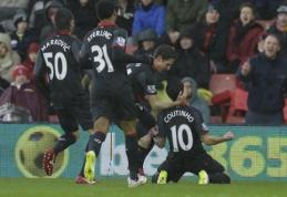 """""""Liverpool"""" palaužė """"Southampton"""", """"Tottenham"""" ir """"Everton"""" išplėšė lygiąsias (VIDEO)"""