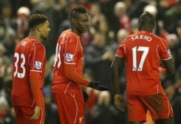 """M.Balotelli įvartis išplėšė """"Liverpool"""" pergalę """"Premier"""" lygoje (VIDEO)"""