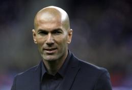 """Z. Zidane'as: """"Aš negalvoju apie Europos lygą"""""""