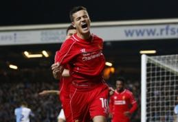 """""""Liverpool"""" palaužė """"Blackburn"""" ir pateko į FA taurės pusfinalį (VIDEO)"""