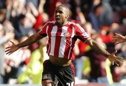 """Fantastiškas J.Defoe įvartis nulėmė """"Sunderland"""" pergalę, """"Tottenham"""" prarado taškus (VIDEO)"""