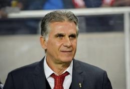 C.Queirozas traukiasi iš Irano rinktinės trenerių pareigų