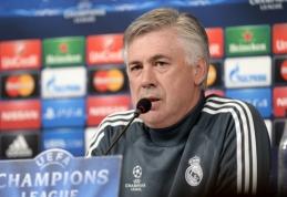 """C.Ancelotti drąsina """"Real"""": pusfinalyje baimės neturi būti"""