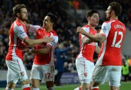 """Anglijoje - nesunki """"Arsenal"""" futbolininkų pergalė prieš """"Hull City"""" (VIDEO)"""