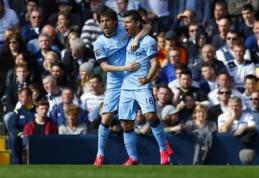 """Puikus S.Aguero įvartis nulėmė """"Man City"""" pergalę prieš """"Tottenham"""" (VIDEO)"""