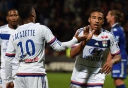"""""""Lyon"""" ir """"Saint-Etienne"""" šventė pergales, """"Marseille"""" sužaidė lygiosiomis"""
