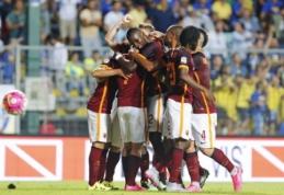 """""""Serie A"""" pirmenybėse pergales šventė """"Roma"""" ir """"Fiorentina"""", o """"Juventus"""" išplėšė pirmąjį tašką (VIDEO)"""
