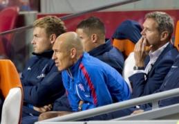 Nyderlandų rinktinės sudėtis - be A. Robbeno, tačiau su A. El Ghazi
