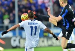 """""""Inter"""" ir vėl prarado taškus bei leido """"Napoli"""" atitrūkti (VIDEO)"""