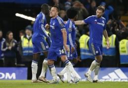 """Aštuntąją pridėto laiko minutę J. Terry įvartis nulėmė lygiąsias prieš """"Everton"""", """"Leicester"""" - lyderio pozicijoje (VIDEO)"""