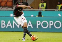 """Meistriškas C. Bacca įvartis padėjo """"Milan"""" patekti į Italijos taurės pusfinalį (VIDEO)"""