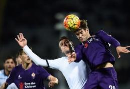 """""""Lazio"""" netikėtai įveikė """"Fiorentina"""", """"Roma"""" ir """"Milan"""" išsiskyrė taikiai (VIDEO)"""