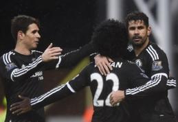 """""""Chelsea"""" metus pradėjo triuškinančia pergale, """"Everton"""" ir """"Tottenham"""" dvikovoje - taika (VIDEO)"""