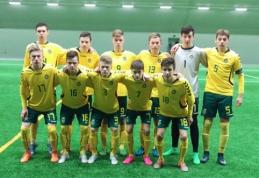 U-17 rinktinė antrą kartą išvykoje pranoko Estijos futbolininkus
