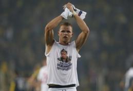 Marškinėlius su V. Putino atvaizdu dėvėjusiam žaidėjui - kirtis