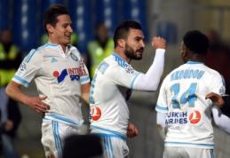 """""""Monaco"""" ir """"Marseille"""" iškovojo pergales, F. Thauvinas pasižymėjo raudona kortele (VIDEO)"""