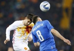 Draugiškose rungtynėse - Italijos ir Ispanijos rinktinių lygiosios (VIDEO)