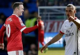 """W. Rooney prieš Z. Ibrahimovičių: ar švedas galėtų įsitvirtinti """"Man Utd"""" ekipoje?"""