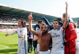 """PSG """"Ligue 1"""" titulą užsitikrino į autsaiderio vartus įmušdamas devynis įvarčius (VIDEO)"""