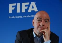 G. Infantino pradėjo darbus: FIFA davė leidimą išbandyti vaizdo technologijas