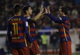 """L. Messi """"hat-tricku"""" prisidėjo prie rekordinės """"Barcos"""" pergalės, G. Arlauskis liko ant suolo (VIDEO)"""