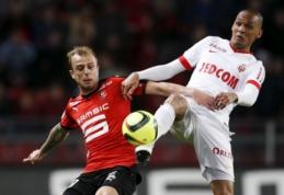 """""""Monaco"""" ir """"Rennes"""" mače užfiksuotos lygiosios - tuo gali džiaugtis """"Lyon"""" (VIDEO)"""