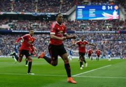 """A. Martialio įvartis rungtynių pabaigoje išvedė """"Man Utd"""" į FA taurės finalą (VIDEO)"""