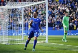 """Be J. Vardy likusi """"Leicester City"""" dramatiškose rungtynėse išplėšė tašką prieš """"West Ham"""" (VIDEO)"""