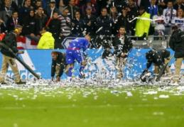 """Kovoje dėl """"Ligue 1"""" medalių dešimtyje likęs """"Lyon"""" išplėšė lygiąsias prieš """"Nice"""" (VIDEO)"""