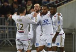 """""""Lyon"""" grįžta į trečiąją vietą, o """"Marseille"""" nepadėjo nė A. Diaby debiutas startinėje sudėtyje (VIDEO)"""
