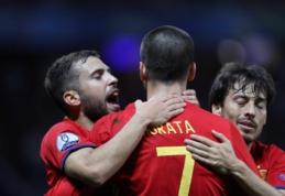 Puikiai žaidę ispanai sutriuškino Turkijos rinktinę (FOTO, VIDEO)