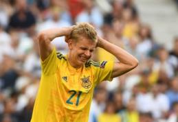 "Oficialu: Ukrainos futbolo talentas O. Zinchenko keliasi į ""Man City"""