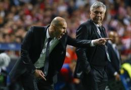 """C. Ancelotti prieš būsimą akistatą su Z. Zidane'u: niekada neabejojau, kad jis taps """"Real"""" treneriu"""