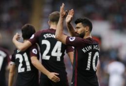 """""""Premier"""" lygoje - """"Man City"""", """"Tottenham"""" ir """"Liverpool"""" pergalės bei pirmoji """"Everton"""" nesėkmė (VIDEO)"""